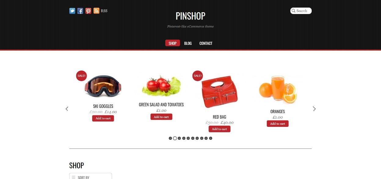 Pinshop Demo