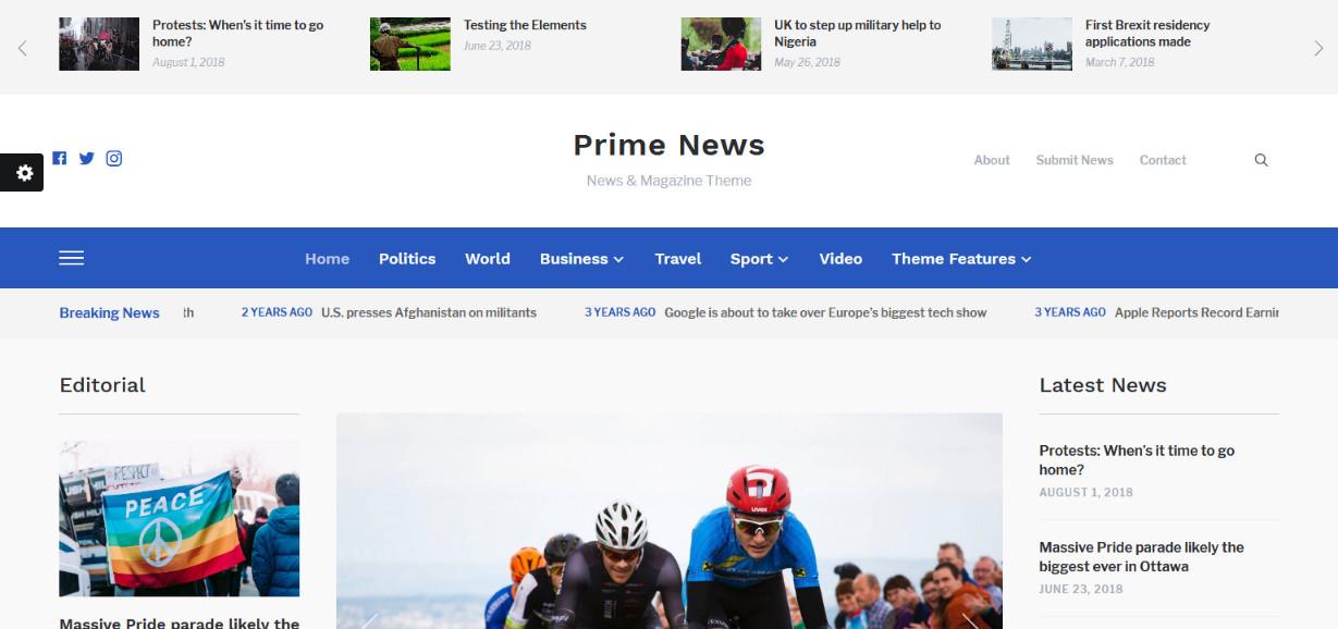 Prime News News & Magazine Theme