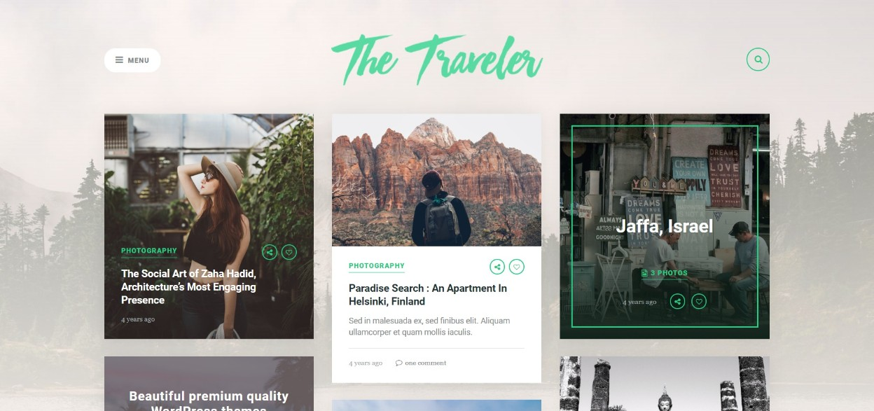 The Traveler responsive wordpress theme