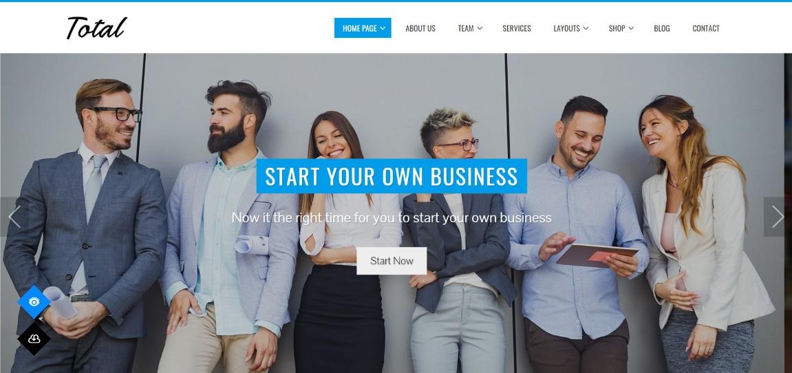 Total agency free wordpress theme