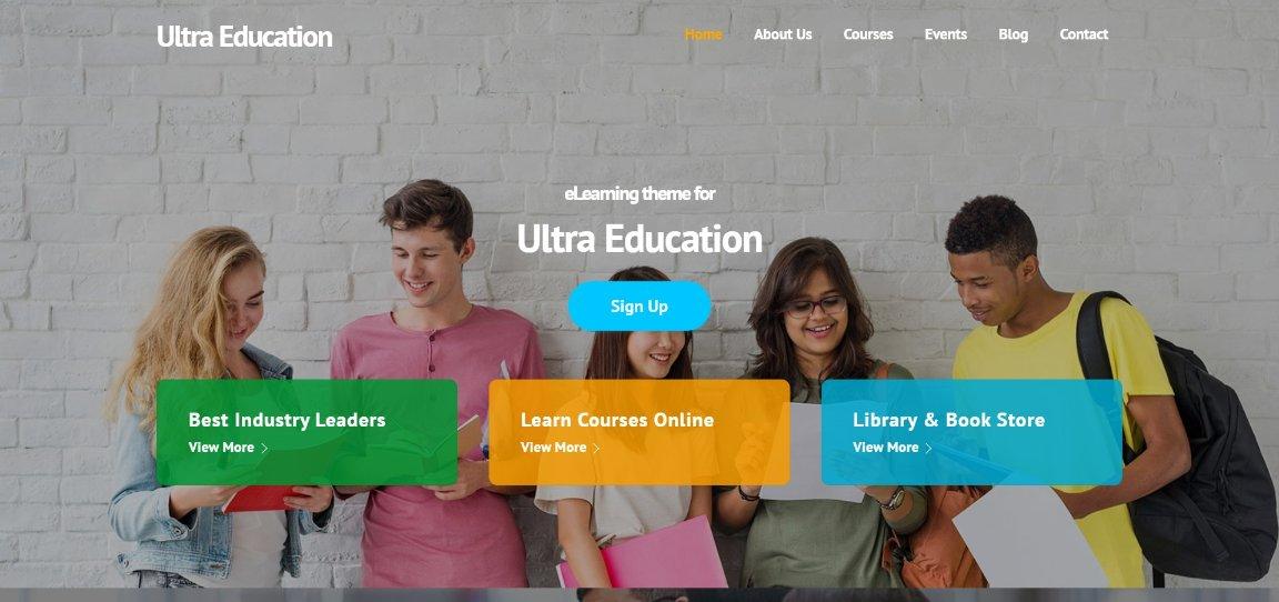 Ultra Education demo site
