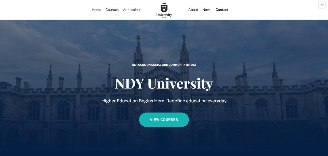 University Template Demo neve template