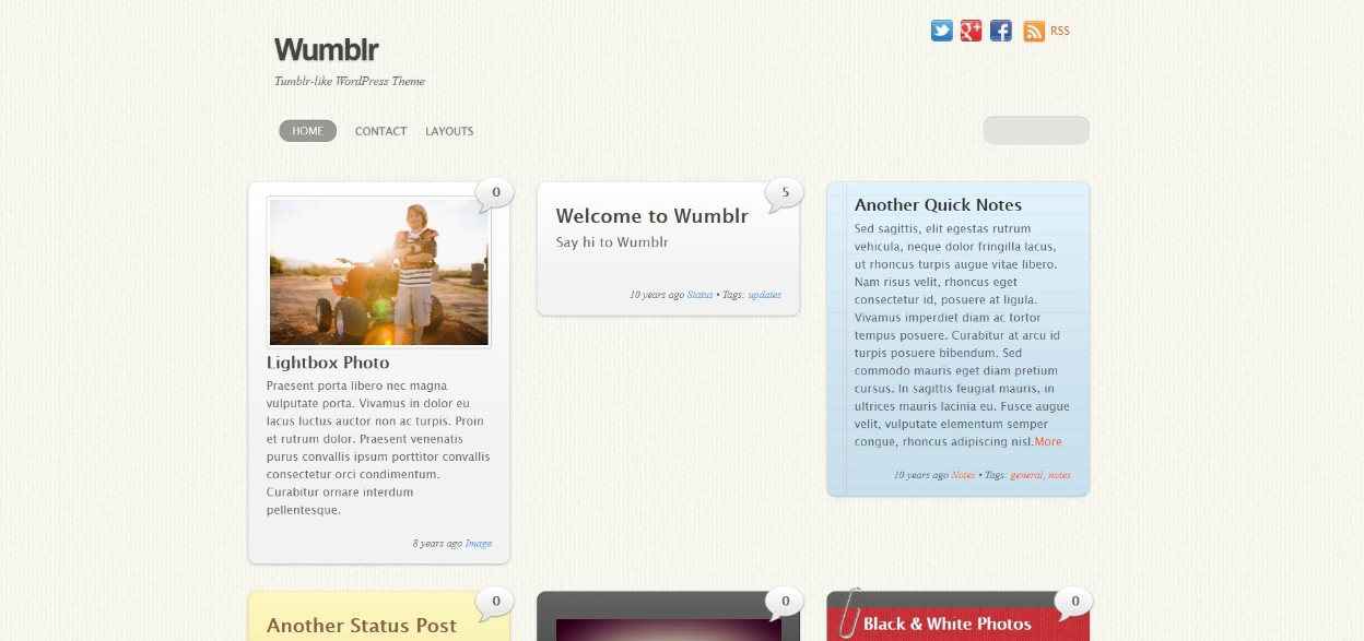 Wumblr responsive wordpress theme