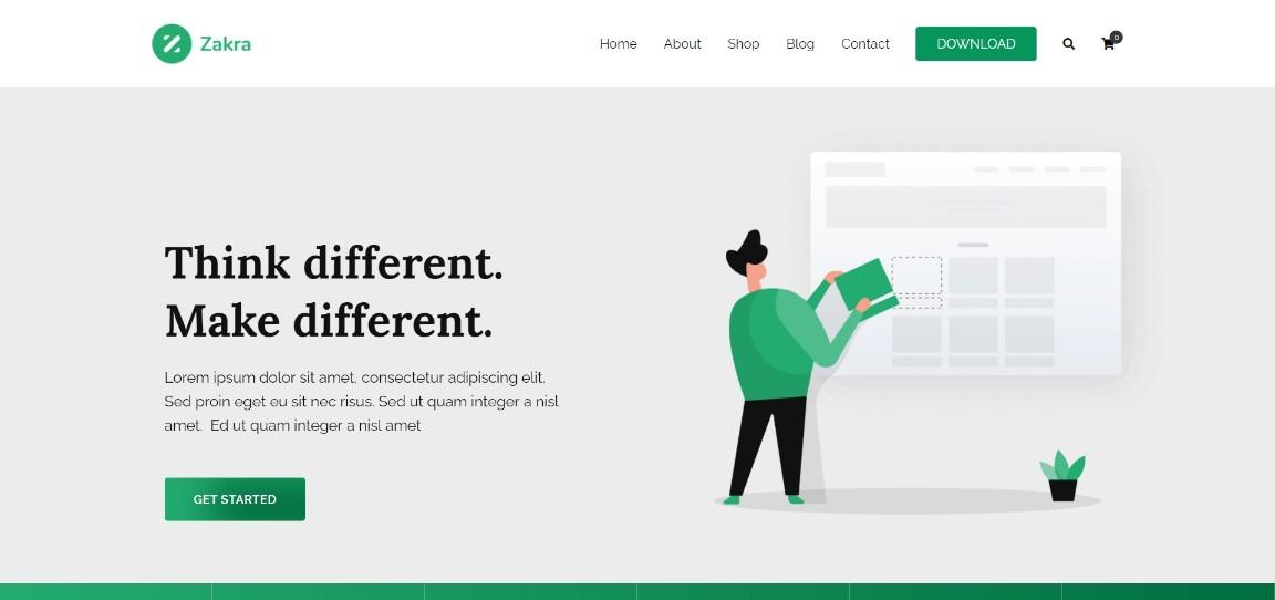 Zakra Agency wordpress theme