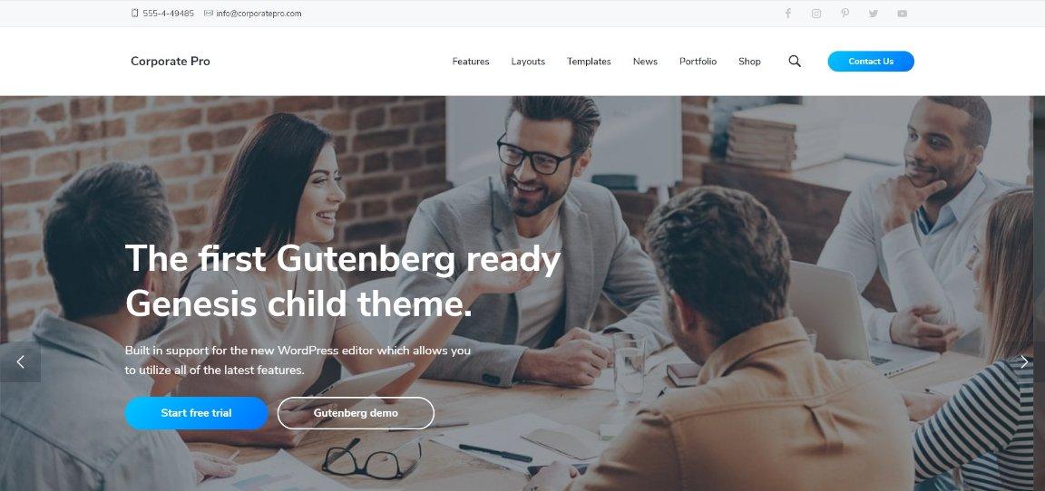 corporate Pro wordpress theme template