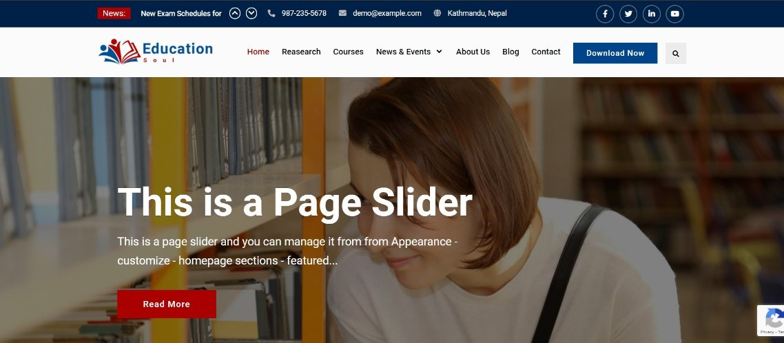 education soul wordpress theme