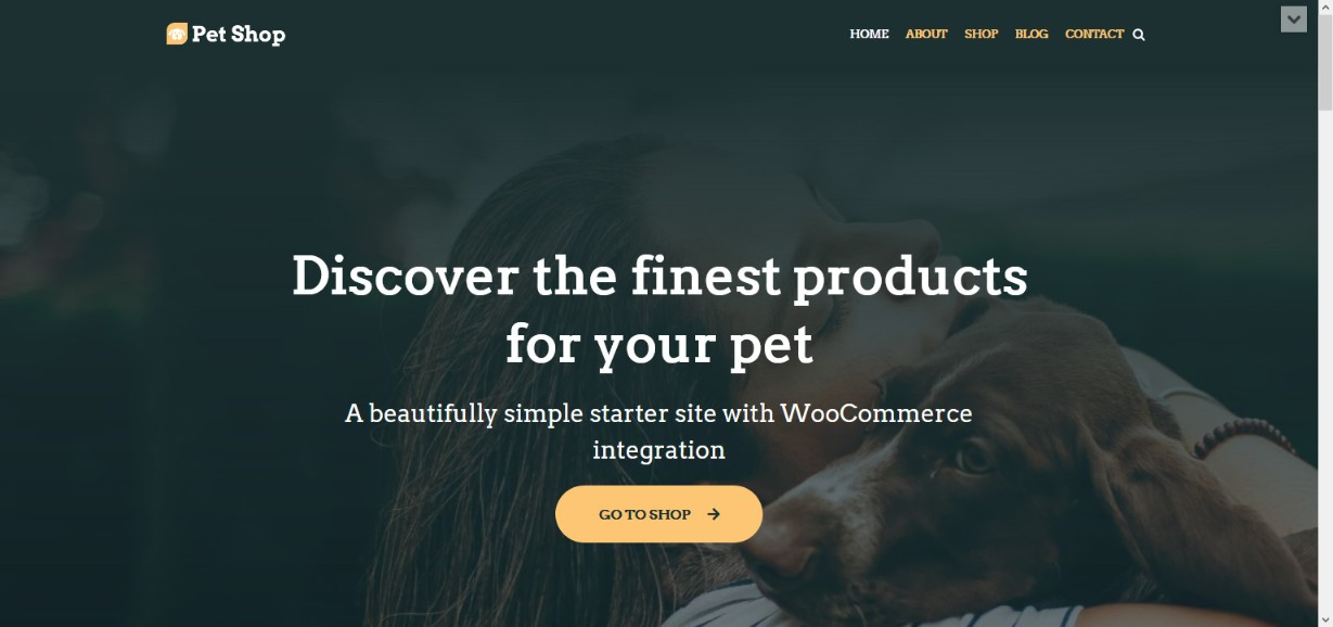 neve pet shop demo site