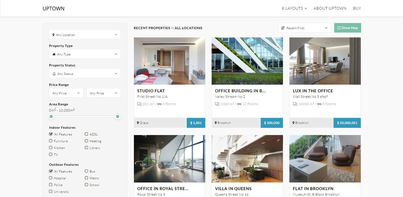 Uptown real estate plugin image