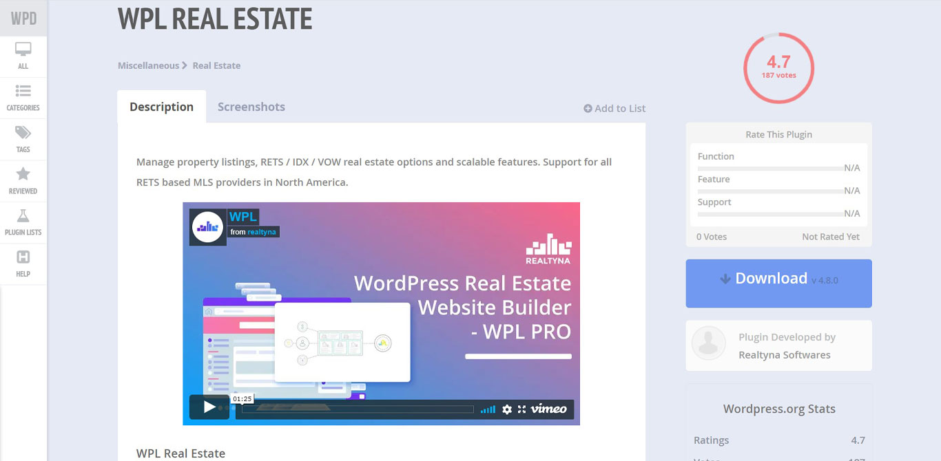 WPL real estate plugin image