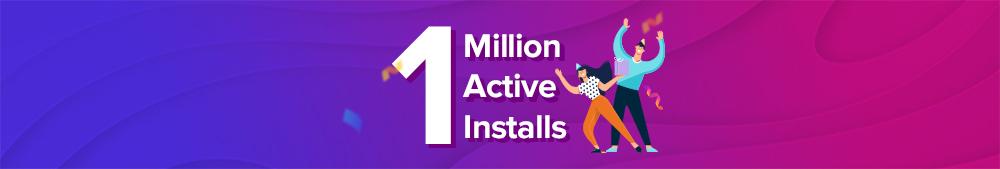 Astra's 1 million active installs.