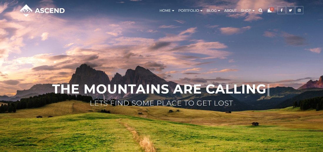 ASCEND free wordpress theme demo