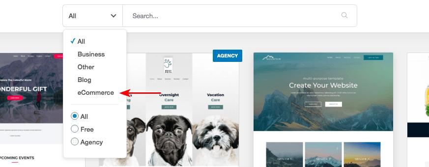 Astra eCommerce starter templates