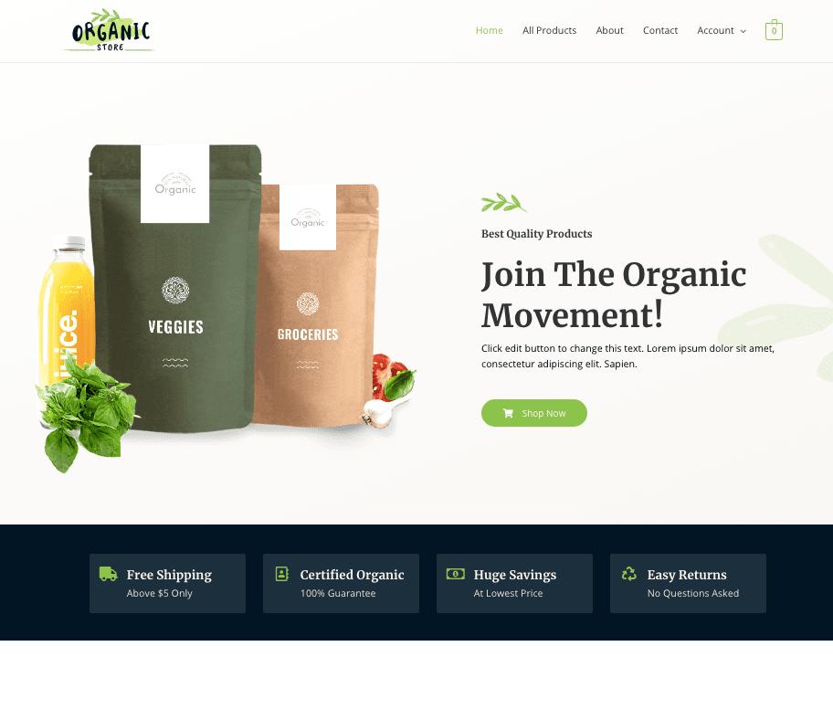 Astra organic store