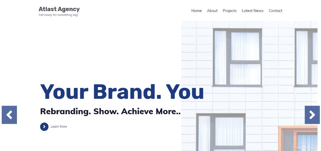 Atlast Agency free wordpress theme
