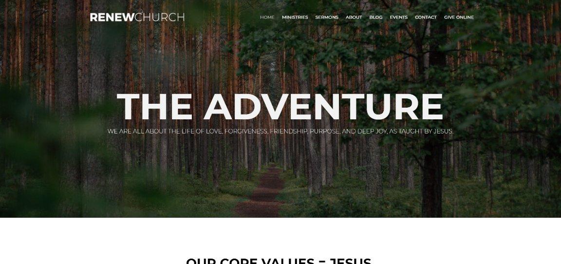 Renew Church demo site