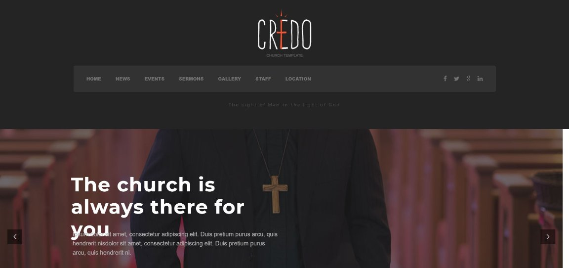 Credo wordpress church theme