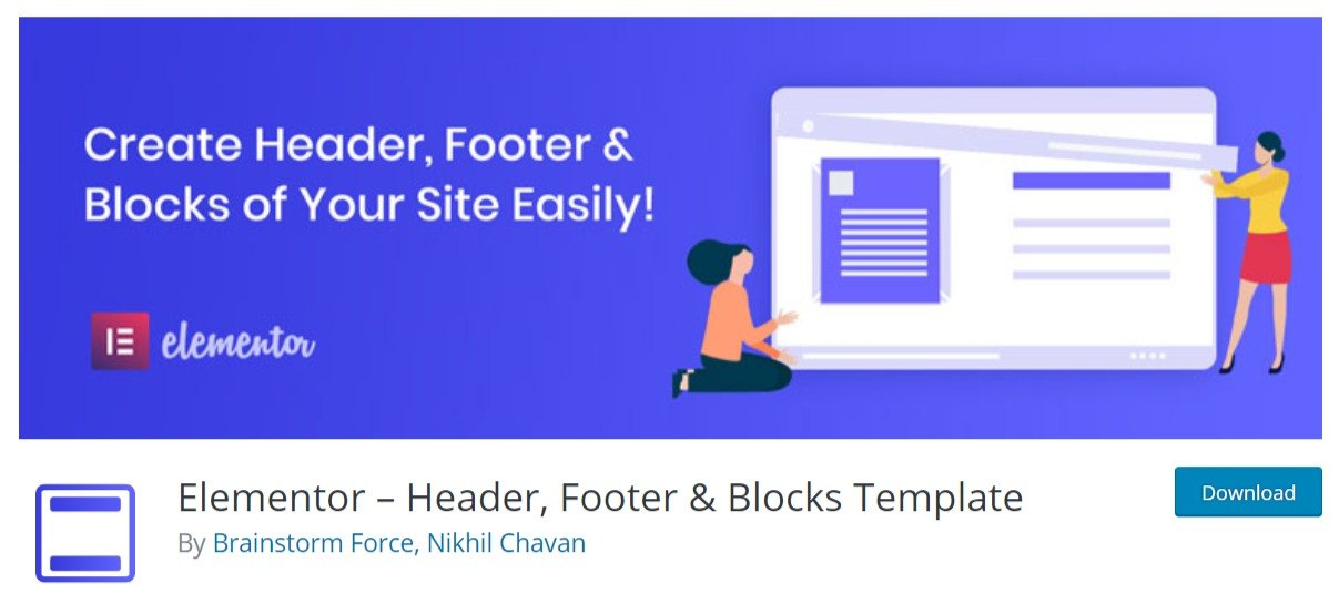 Elementor – Header, Footer & Blocks Template