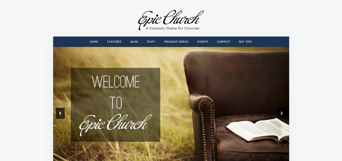 Epic Theme For Churches