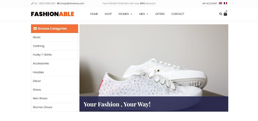 Fashionable Store wordpress theme