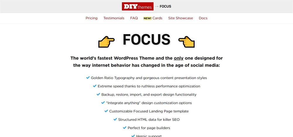 Focus diythemes