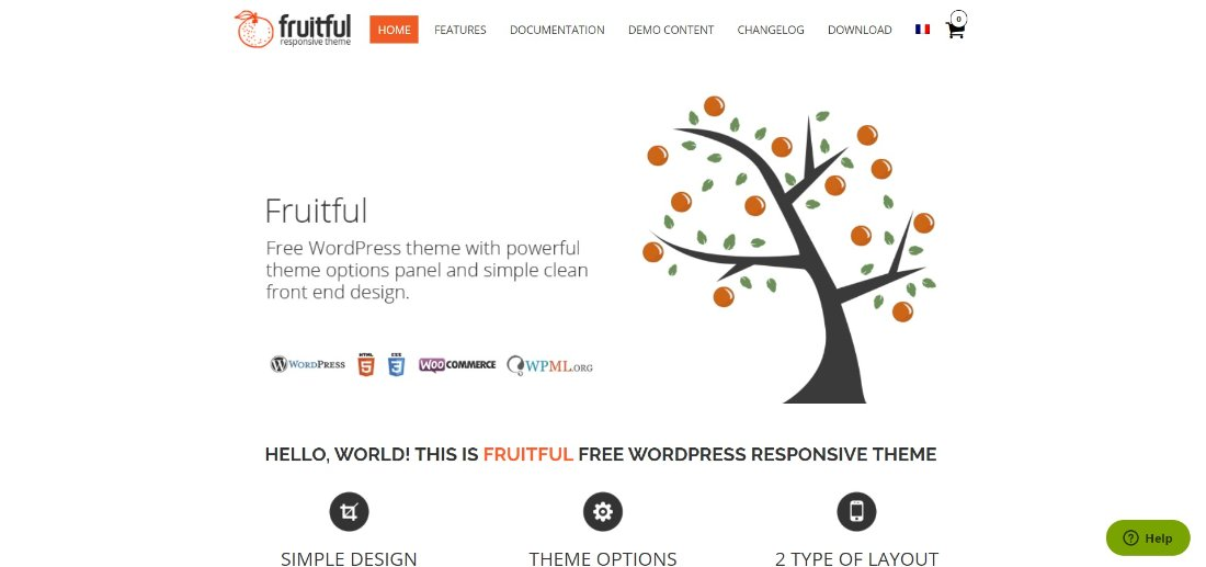 Fruitful theme wordpress theme