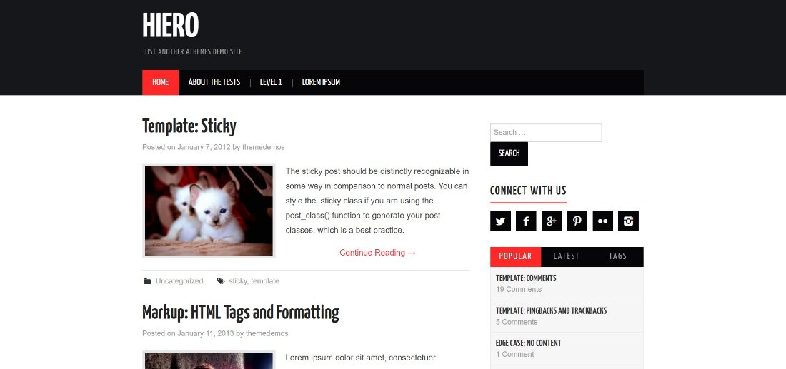 Hiero free wordpress theme