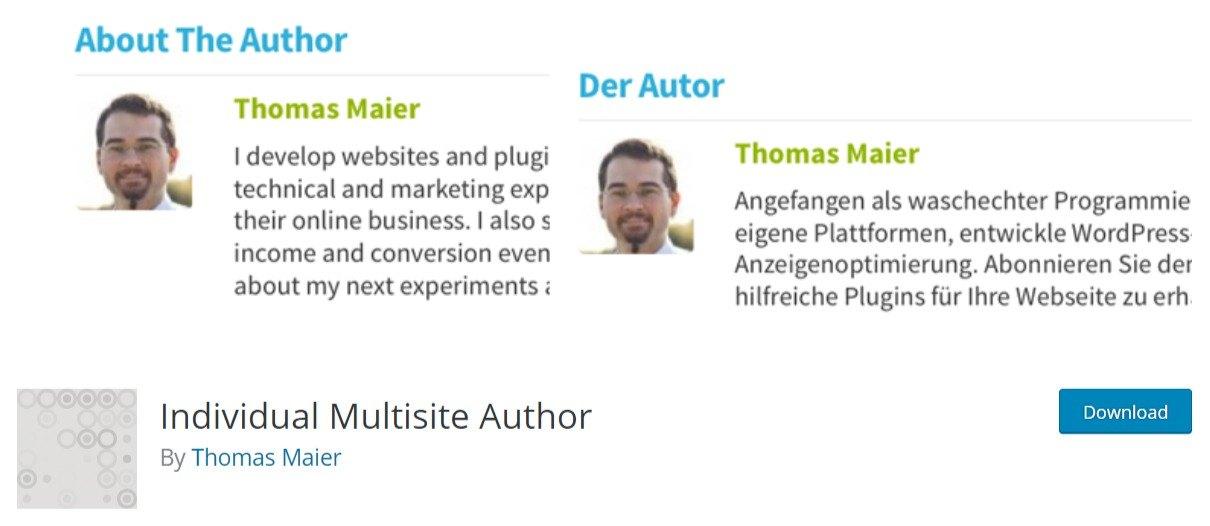 Individual Multisite Author wordpress plugin