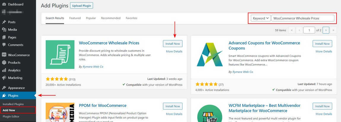 Install woocommerce wholesale prices