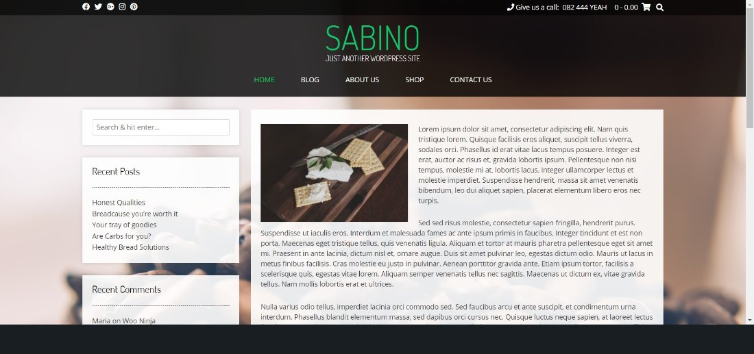 Kaira sabino wordpress theme demo