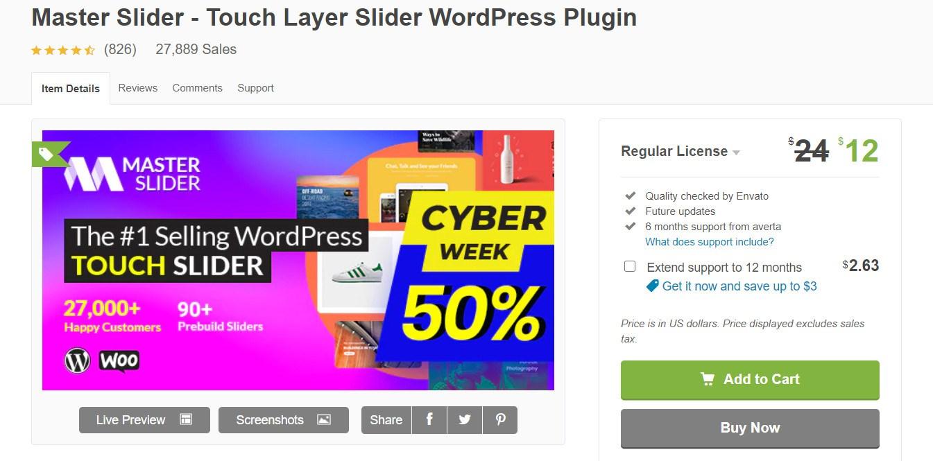 Master slider WordPress plugin