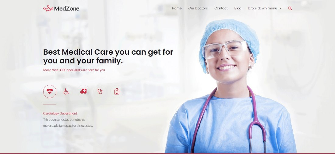 MedZone Lite free theme for wordpress