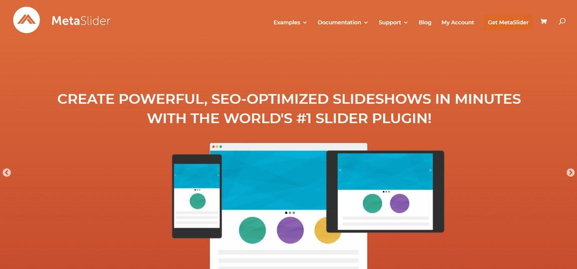 Meta slider plugin homepage