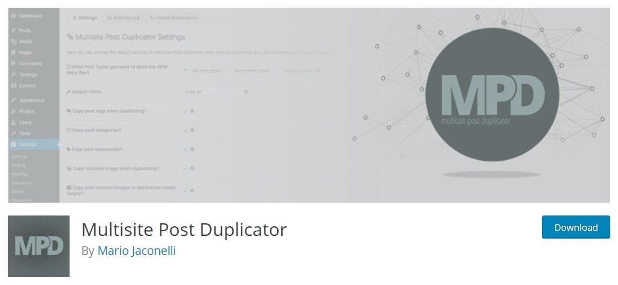 Multisite Post Duplicator WordPress plugin