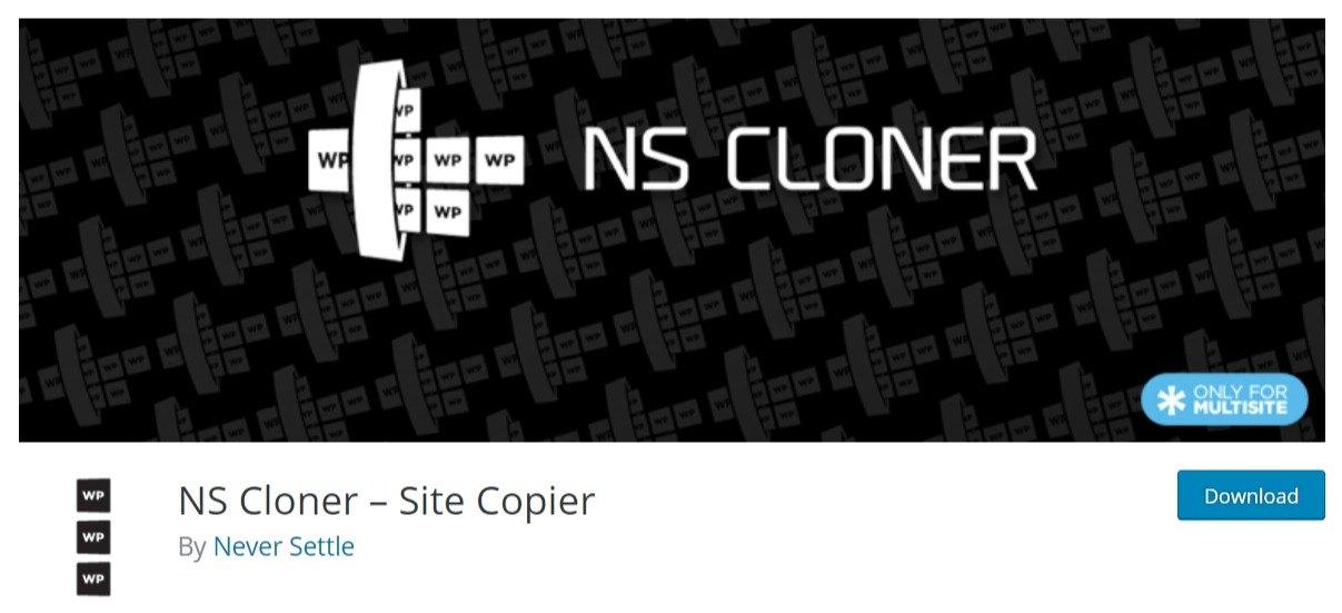 NS Cloner – Site Copier wordpress plugin