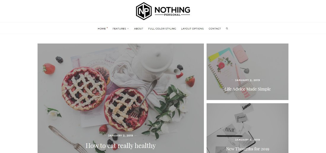 Nothing Personal free wordpress theme template