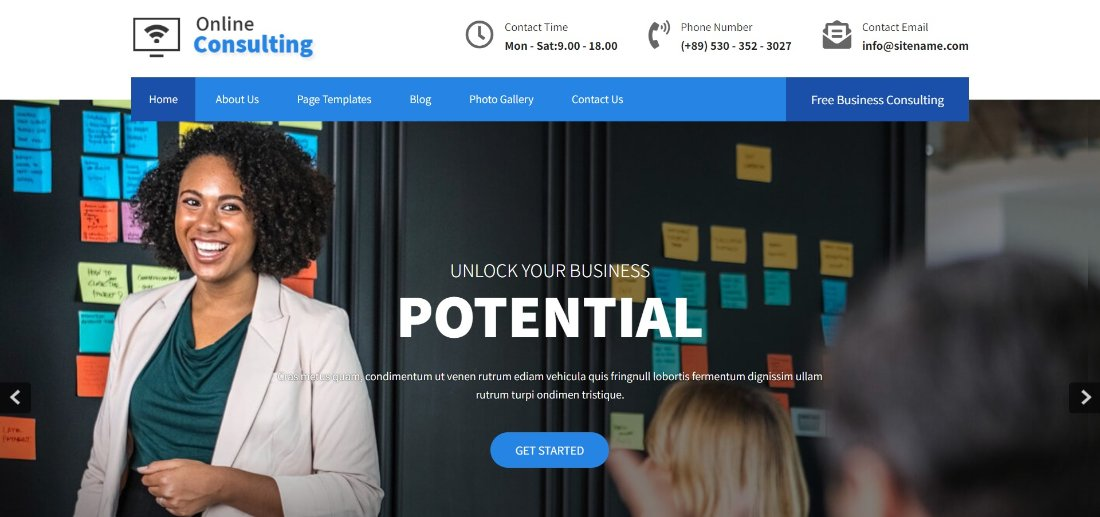 Online Consulting free wordpress theme