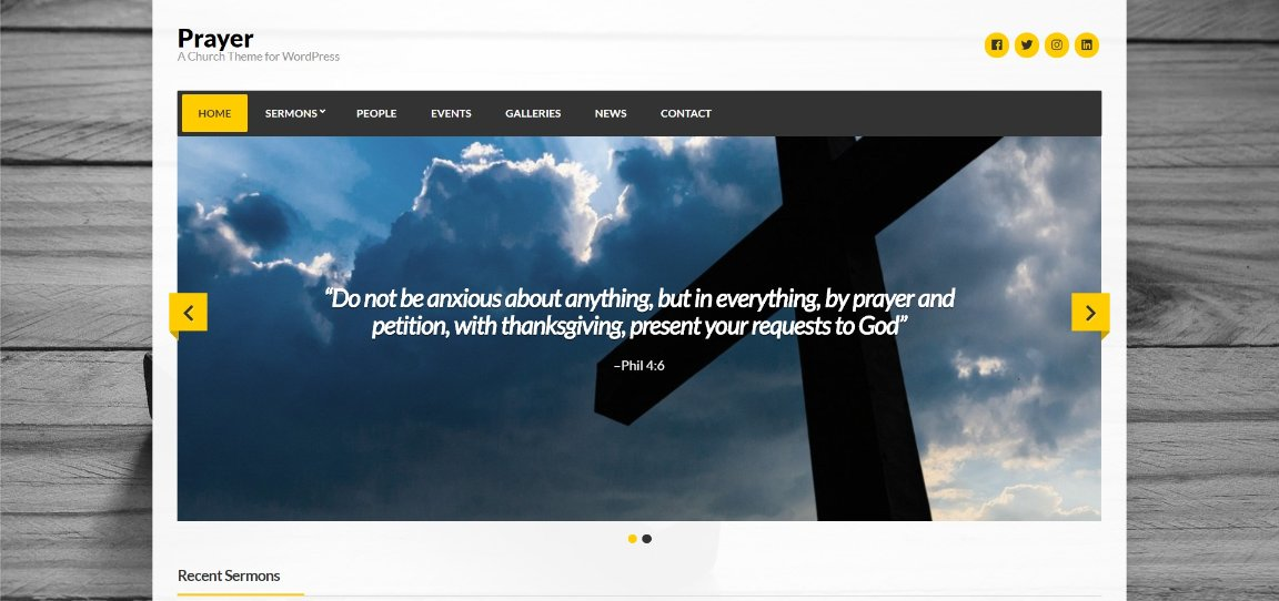 Prayer theme demo template
