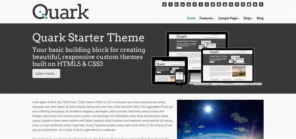 Quark Starter Theme demo site