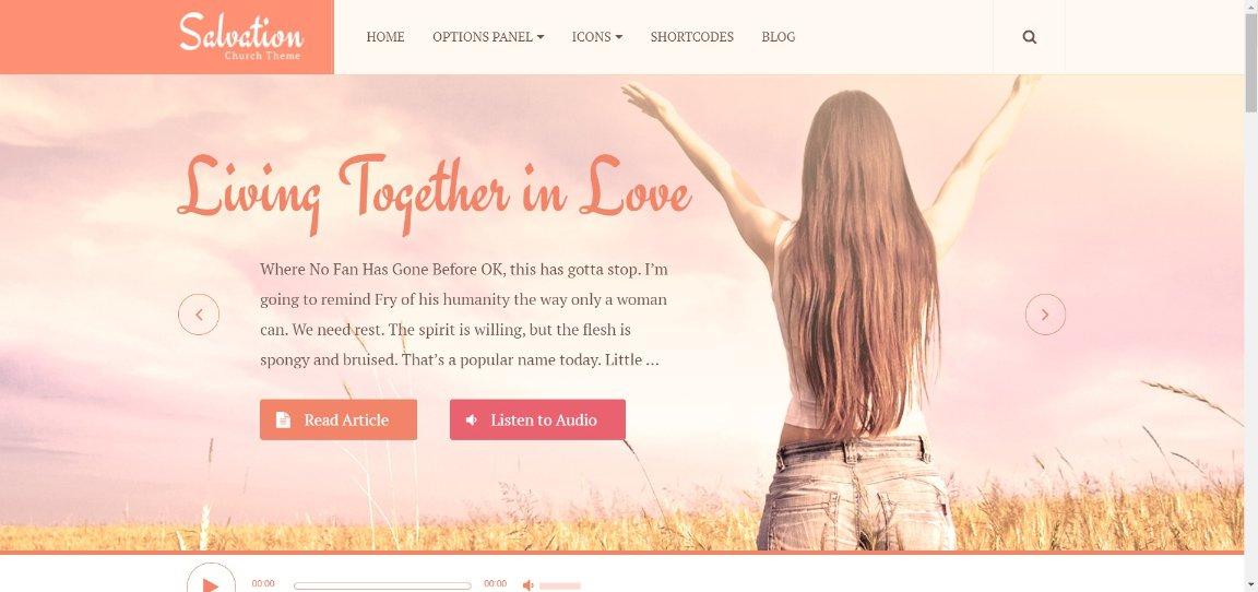 Salvation Theme demo site