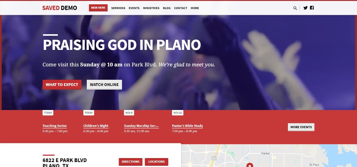 Saved wordpress demo site