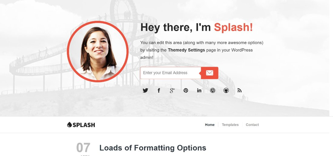 Splash wordpress theme