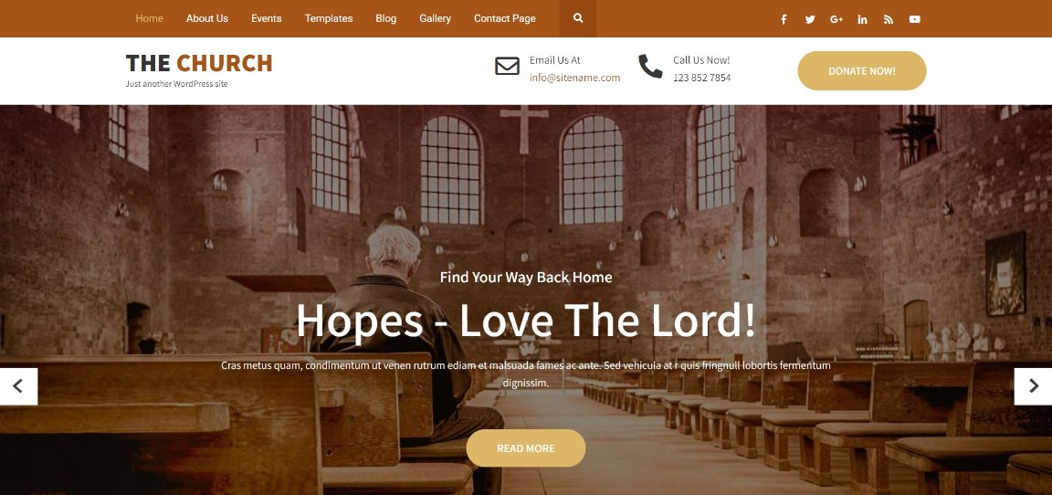 The Church wordpress church theme