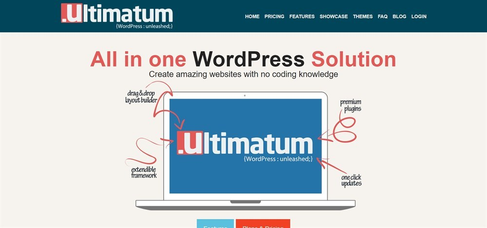 Ultimatum homepage