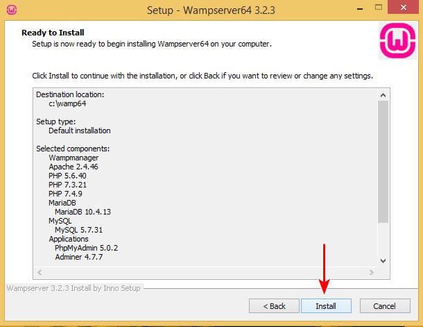 Install wamp and xampp on same computer