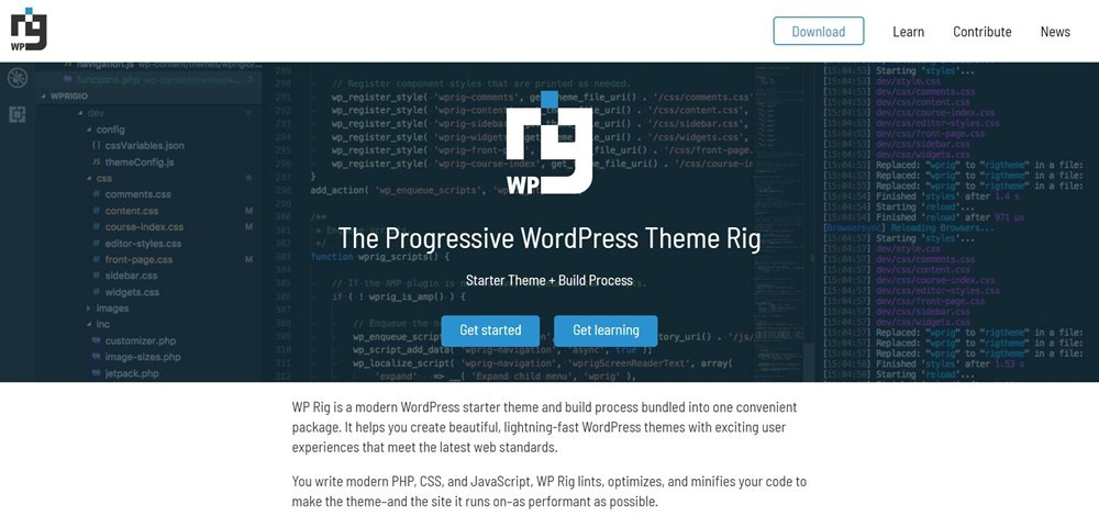 WP Rig wordpress theme