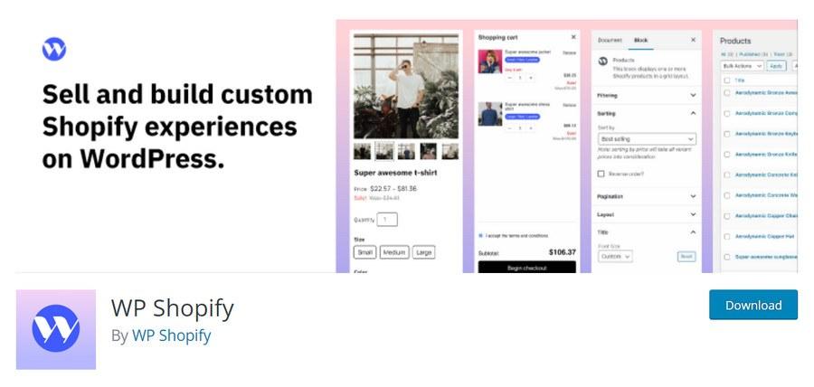 WP Shopify WordPress plugin