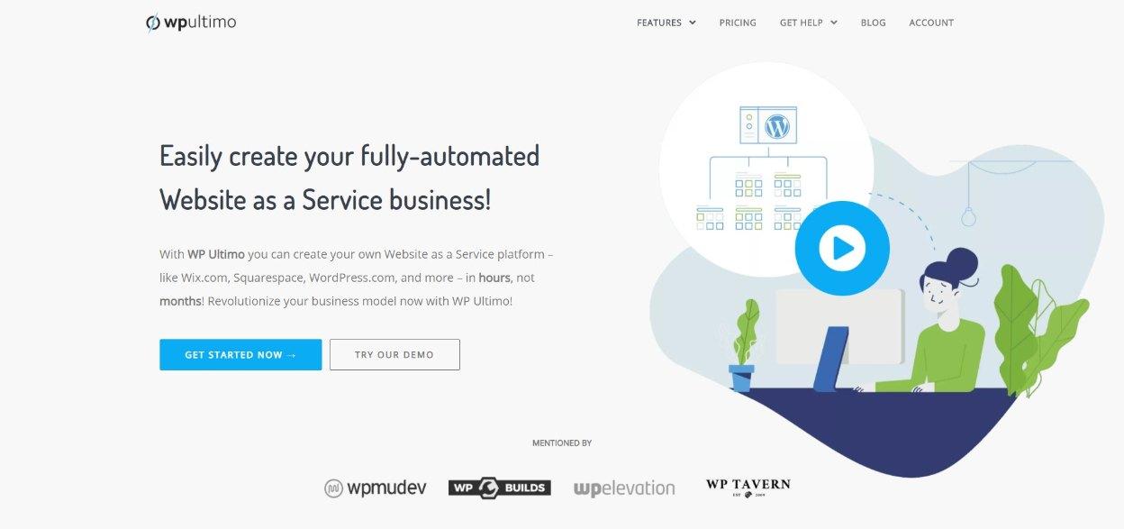 WP Ultimo homepage