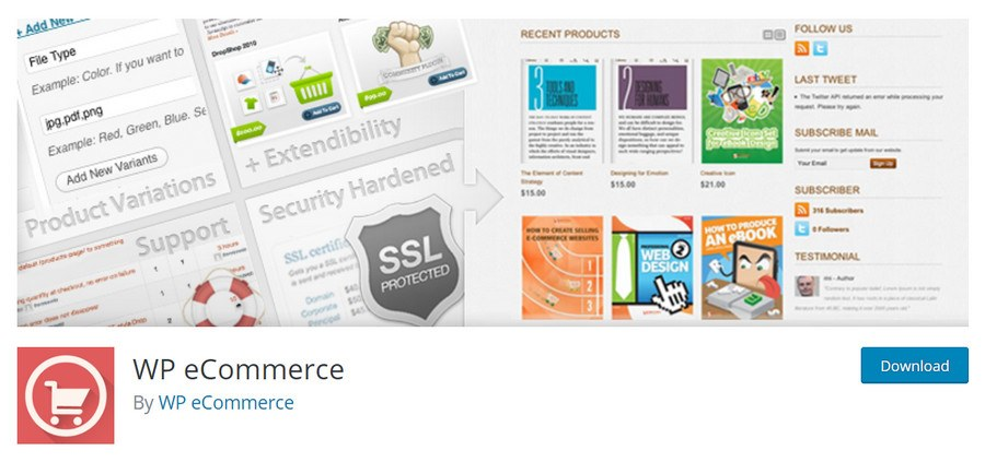 WP eCommerce wordpress plugin
