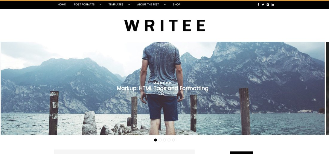 WRITEE demo site