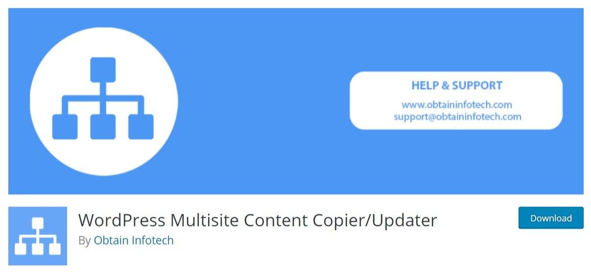 WordPress Multisite Content Copier/Updater